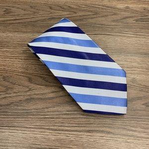 Brooks Brothers Blue & Navy Stripe Twill Tie